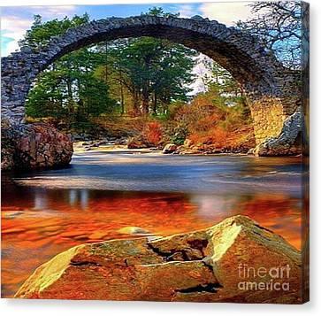 The Rock Bridge Canvas Print by Rod Jellison