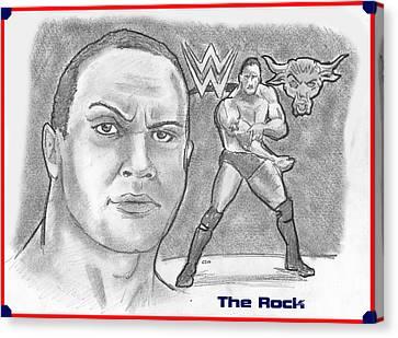 The Rock Canvas Print by Chris  DelVecchio