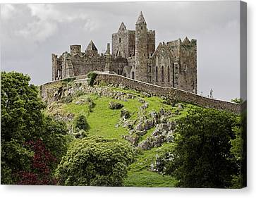 The Rock Of Cashel Ireland In Summer Canvas Print by Pierre Leclerc Photography