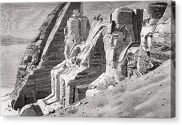 The Rock Temple At Abu Simbel, Nubia Canvas Print by Vintage Design Pics