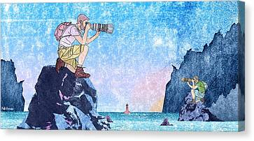 The Rockhoppers Canvas Print by Matt Bannister