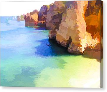 The Rocky End Of The Beach Canvas Print