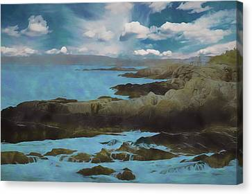 Rocky Maine Coast Canvas Print - The Rocky Maine Coast. by Rusty Smith