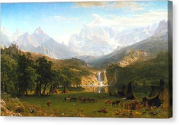The Rocky Mountains, Lander's Peak, C. 1863 Canvas Print by Albert Bierstadt