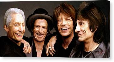 Canvas Print featuring the painting The Rolling Stones by James Shepherd