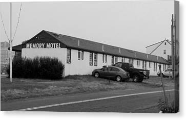 The Rolling Stones' Memory Motel Montauk New York Canvas Print by Rob Hans