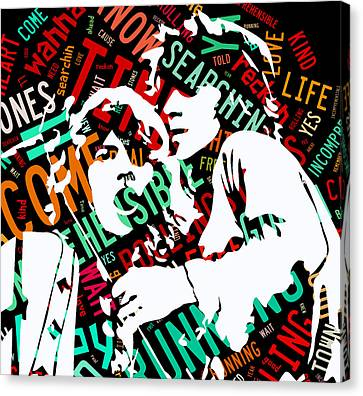 The Rolling Stones Time Is On My Side Canvas Print by Marvin Blaine