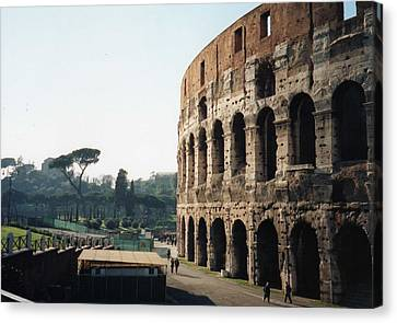 The Roman Colosseum Canvas Print by Marna Edwards Flavell