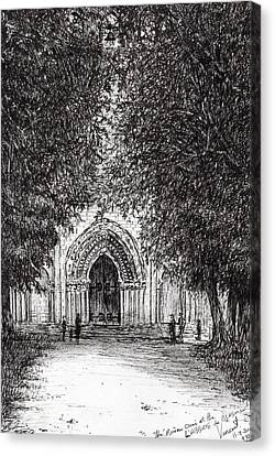 Religious Canvas Print - The Roman Door by Vincent Alexander Booth