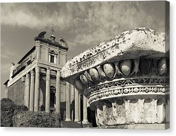 The Roman Forum Canvas Print by Edward Fielding