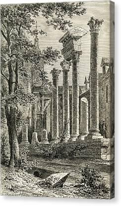 The Roman Theatre, Besan Canvas Print by Vintage Design Pics