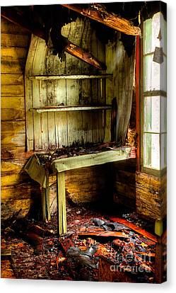 The Roof Is Falling Canvas Print by Michael Eingle