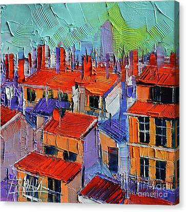 Rooftop Canvas Print - The Rooftops by Mona Edulesco
