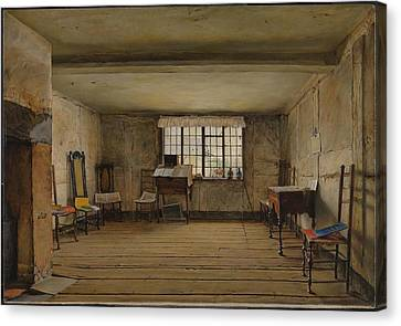 The Room In Which Shakespeare Was Born Canvas Print by Henry Wallis