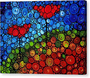 Nature Abstract Canvas Print - The Roots Of Love Run Deep by Sharon Cummings