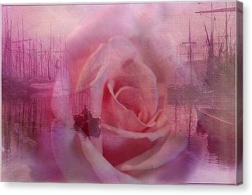 The Rose And The Sea Canvas Print