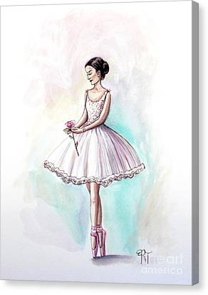 Dance Ballet Roses Canvas Print - The Rose by Elizabeth Robinette Tyndall