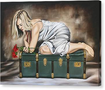 The Rose Canvas Print by Ilse Kleyn