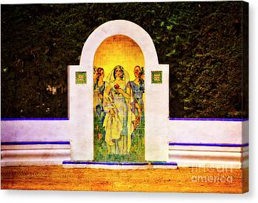 Canvas Print featuring the photograph The Rose In The Garden - Seville by Mary Machare