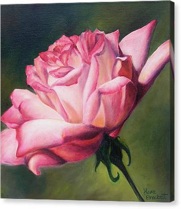 Canvas Print featuring the painting The Rose by Lori Brackett
