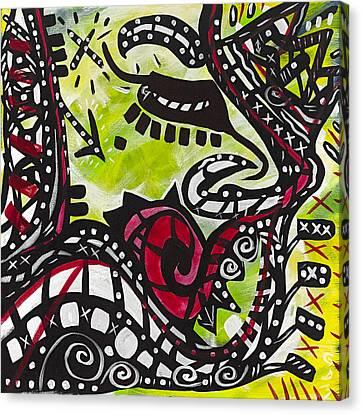 The Rose Moustache Canvas Print