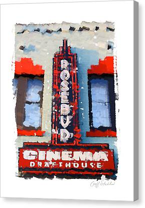 Theatre Canvas Print - The Rosebud by Geoff Strehlow
