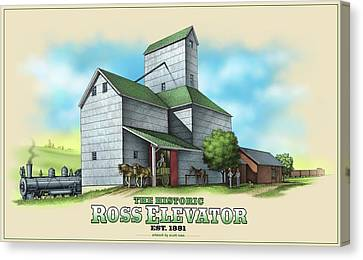 The Ross Elevator Canvas Print by Scott Ross
