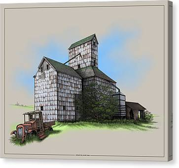 The Ross Elevator Version 5 Canvas Print by Scott Ross