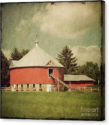 The Round Barn Canvas Print by Joel Witmeyer
