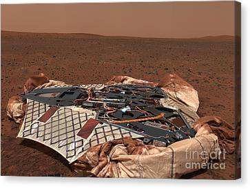 The Rovers Landing Site, The Columbia Canvas Print by Stocktrek Images