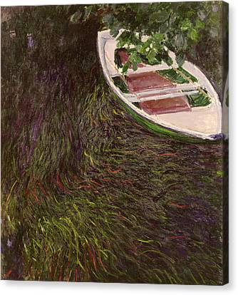 The Rowing Boat Canvas Print by Claude Monet
