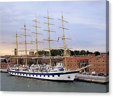 The Royal Clipper Docked In Venice Italy Canvas Print