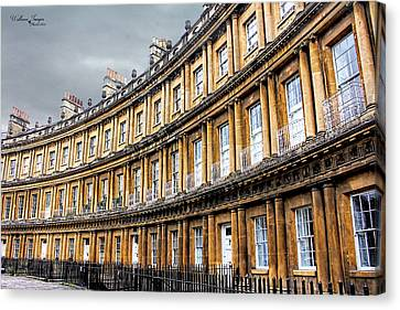 Canvas Print featuring the photograph The Royal Crescent, Bath by Wallaroo Images