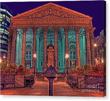 The Royal Exchange In The City London Canvas Print