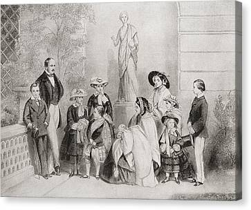 The Royal Family At Osborne House, Isle Canvas Print by Vintage Design Pics