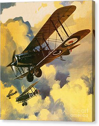 The Royal Flying Corps Canvas Print by Wilf Hardy