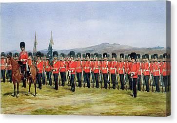 The Royal Fusiliers Canvas Print by Richard Simkin