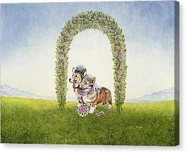 The Royal Wedding Canvas Print by Ditz