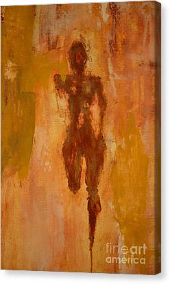 The Runner- Life's Journey  Canvas Print by Vincent Avila