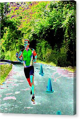 The Runner Canvas Print by Peter  McIntosh