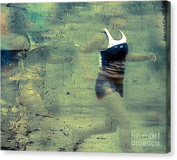Footrace Canvas Print - The Running Woman by Steven Digman