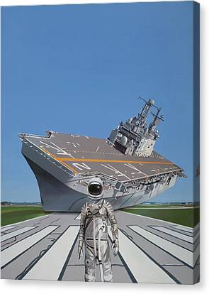 Canvas Print featuring the painting The Runway by Scott Listfield