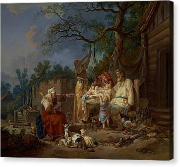 The Russian Cradle Canvas Print by Jean-Baptiste Le Prince