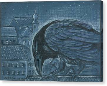The Russian Raven Canvas Print by Linda Nielsen