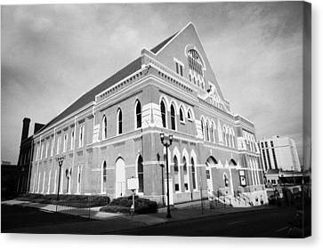 Register Canvas Print - The Ryman Auditorium Former Home Of The Grand Ole Opry And Gospel Union Tabernacle Nashville by Joe Fox