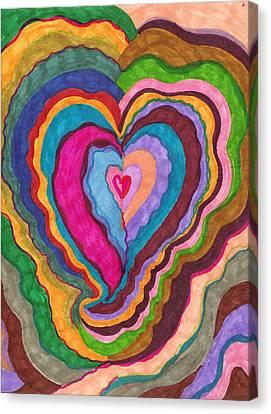 The Rythm Of Love Canvas Print by Brenda Adams
