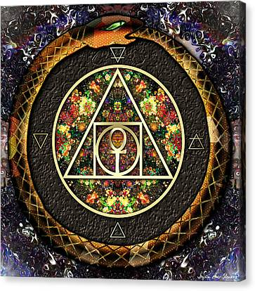 The Sacred Alchemy Of Life Canvas Print by Iowan Stone-Flowers
