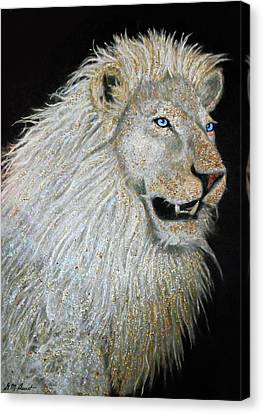 The Sacred Spirit Of The White Lion Canvas Print by Michael Durst