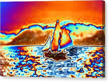 The Sail Canvas Print by Tim Allen