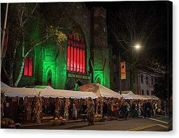 The Salem Witch Museum Halloween Weekend Salem Ma Canvas Print by Toby McGuire